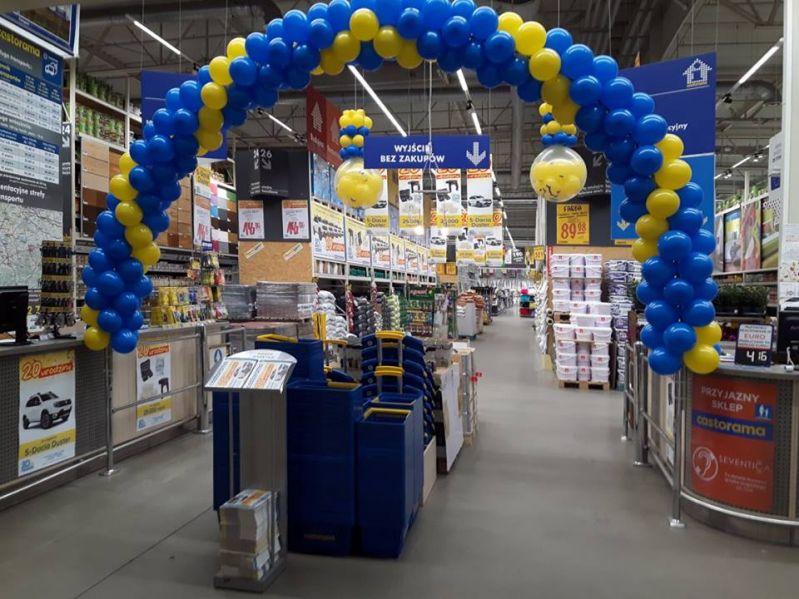 Realizacja dekoracji balonowej na urodziny Castoramy w Bielsku-Białej