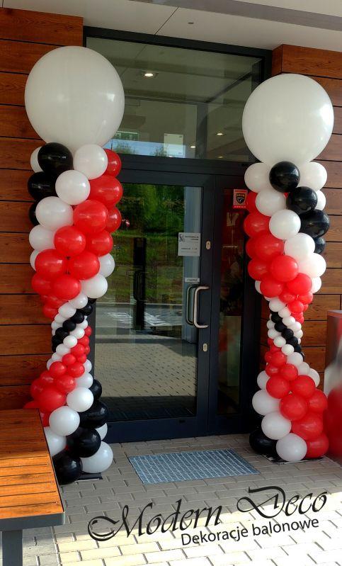 Słupki balonowe na otwarcie nowego punktu KFC w Bielsku-Białej.