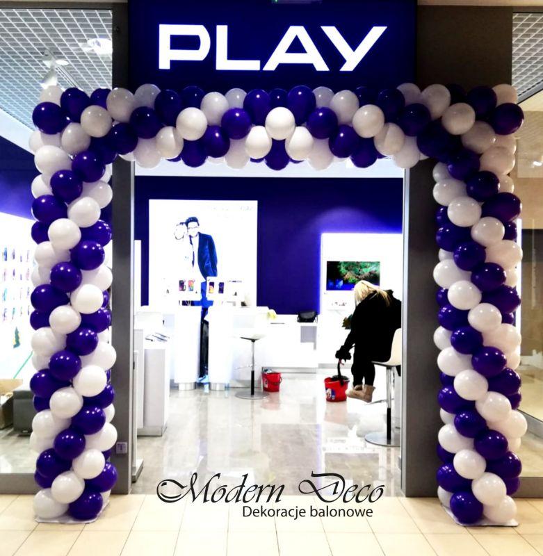Brama balonowa na otwarcie punktu Play w nowo otwartej galerii w Cieszynie.